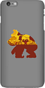 Coque Smartphone Silhouette Donkey Kong Mangrove pour iPhone et Android - iPhone 6 Plus - Coque Simple Vernie