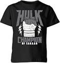 T-Shirt Marvel Thor Ragnarok Hulk Champion - Nero - Bambini - 3-4 Anni - Nero