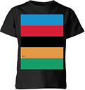 Summit Finish World Champion Stripes Kids' T-Shirt - Black - 9-10 Years - Black