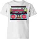 Colourful Boombox Kids' T-Shirt - White - 11-12 Jahre - Weiß