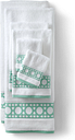 Supima Cane Weave Jacquard Border Towel - Lands' End - Green