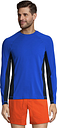 Men's Long Sleeve Swim Tee Rash Guard - Lands' End - Blue - XXL