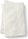 Cotton Waffle Blanket - Lands' End - Ivory - T