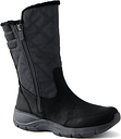 Women's Insulated All Weather Winter Snow Boots - Lands' End - Black - 9