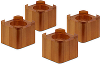 Honey-Can-Do 4-pc. Bed Risers, One Size , Brown