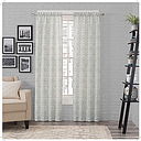 Pairs To Go Brockwell Light-Filtering Rod-Pocket Set of 2 Curtain Panel, One Size , Blue