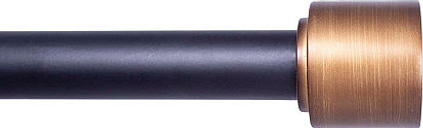 Kenney Claremont Astrid 1 IN Curtain Rod, One Size , Black