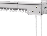 Bali Heavy-Duty One-Way Right Traverse Adjustable Curtain Rod, One Size , White