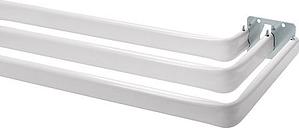 Bali Triple Lock-Seam Adjustable Curtain Rod, One Size , White