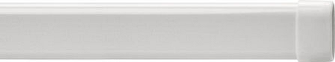 "Bali 24"" Lock-Seam Adjustable Curtain Rod Extender - 2-Pack, One Size , White"