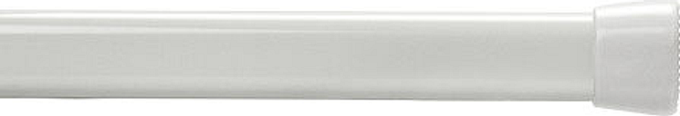 Bali Oval Spring Tension Adjustable Curtain Rod, One Size , White