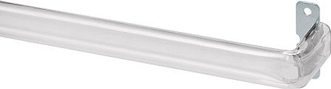 Bali Clear Adjustable Curtain Rod, One Size , Clear