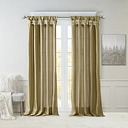 Madison Park Natalie Twisted Tab Light-Filtering Tab-Top Single Curtain Panel, One Size , Brown