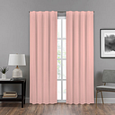 Eclipse Summit Energy Saving Draft Stopper Back-Tab Single Curtain Panel, One Size , Pink