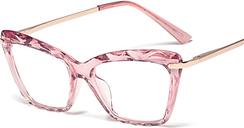 M0108 Popular Women Crystals Transparent Eyeglasses Brand Optical Frames Glasses Clear Diamond Cut Spectacles