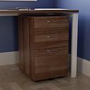 Under Desk 3 Drawer Filing Cabinet Brayden Studio Colour: Dark Walnut