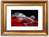 'Formula One Prototype' Framed Graphic Art