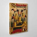 Circus Vintage Advertisement on Canvas Happy Larry Size: 76cm H x 50cm W