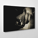 Pool Cue Photographic Print on Canvas