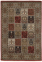 Hand Knotted Red/Cream Rug Astoria Grand