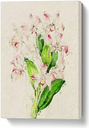 'Illustration of Pink Dendrobium Orchids' Painting on Wrapped Canvas East Urban Home