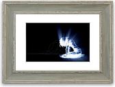 'Soul Woman' - Picture Frame Graphic Art Print on Paper East Urban Home Size: 93cm H x 126cm W x 1cm D, Frame Option: Blue