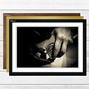 'Pool Cue' Framed Photographic Print East Urban Home Frame Colour: Walnut