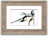 'Smoke Ribbons' - Picture Frame Graphic Art Print on Paper East Urban Home Size: 30cm H x 40cm W x 1cm D, Frame Option: Walnut
