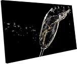 'Champagne Food & Drinks Kitchen' Photograph on Canvas Mercury Row Size: 55 cm H x 75 cm W