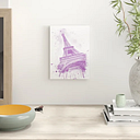 Watercolor Eiffel Tower Pink - Graphic Art Print East Urban Home Format: Unframed, Size: 41cm H x 30cm W x 0.25cm D