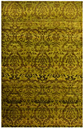 Damask Hand Knotted Wool Gold Rug Bakero