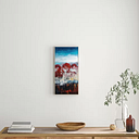 'Winter Drop' Art Prints on Canvas East Urban Home Size: 61cm H x 31cm W, Frame Options: Timber