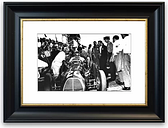 'First F1 Pit Stop Bedroom' Framed Photograph East Urban Home Size: 30 cm H x 40 cm W, Frame Options: Black