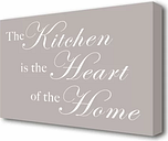 'Kitchen Quote the Kitchen is the Heart of the Home' Textual Art Print on Canvas East Urban Home Size: 50.8 cm H x 81.3 cm W