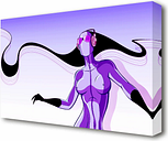Abstract Purple Alien Club - Wrapped Canvas Graphic Art Print