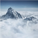 The Alps Above the Clouds - Wrapped Canvas Graphic Art Print East Urban Home Size: 60cm L x 60cm W