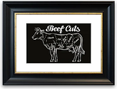 'Butchers Selection 10' Framed Graphic Art East Urban Home