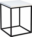 Devos Side Table Mercury Row Frame colour:: Black, Tabletop colour: White