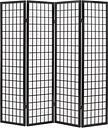 Lessing 4 Panel Room Divider Bay Isle Home Colour: Black