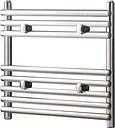 Iridio Wall-Mounted Heated Towel Rail Belfry Heating Finish: Chrome, Size: 50cm H x 40cm W x 12cm D