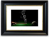 'Smoking Cue Cornwall' Framed Photographic Print East Urban Home Size: 30 cm H x 40 cm W, Frame Options: Black