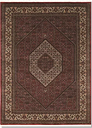 Hand Knotted Red/Cream Rug Rosalind Wheeler