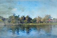 'Lake Balboa at Summer' by Irena Orlov Painting Print on Wrapped Canvas