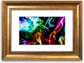 'Mulit Colou Smoke on Black Cornwall' Framed Photographic Print East Urban Home Size: 93 cm H x 126 cm W, Frame Options: Gold