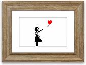 'Love Heart Balloon Girl' Framed Graphic Art East Urban Home Size: 93 cm H x 126 cm W, Frame Options: Teak