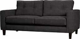 Maya 3 Seater Sofa Mercury Row Upholstery: Charles Charcoal
