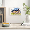 'Resting Cow on the Alps Landscape' Painting on Canvas East Urban Home