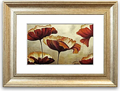 'Chocolate Poppy Skies 1 Cornwall Bedroom' - Picture Frame Graphic Art Print on Paper East Urban Home Size: 70cm H x 93cm W x 1cm D, Frame Option: Sil