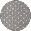 Shaggy Grey/Pink Rug Livone