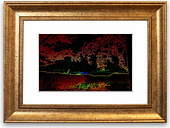 'Hill Top View' Framed Photographic Print East Urban Home Size: 93 cm H x 70 cm W, Frame Options: Gold